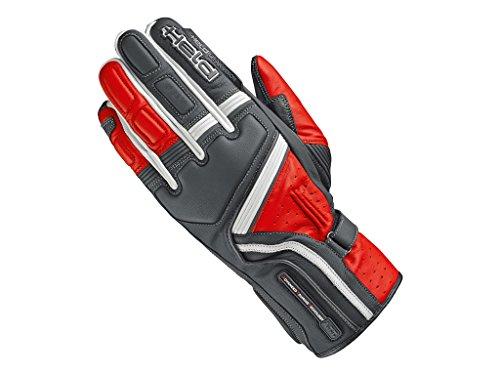Held Motorradschutzhandschuhe, Motorradhandschuhe lang Travel 5 Handschuh schwarz/rot 9, Herren, Sportler, Sommer, Leder