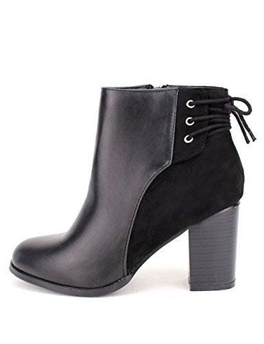 Cendriyon Bottine noire SAN KARONA Chaussures Femme