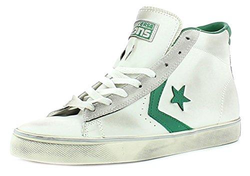 Converse - Converse All Star Scarpe Uomo Bianche Pro Leather Mid - Bianco, 40,5