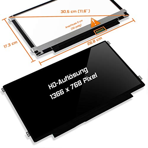 "Laptiptop 11,6"" LED Display Screen Glossy Ersatz für Asus Vivobook E200ha-Fd0004ts HD Bildschirm Panel"