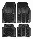 Ek Retail Shop Car Floor Mats (Black) Set of 4 for Hyundai Elite i20 Asta 1.2 (O) Petrol