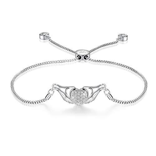 zur Liebe Claddagh Herzform Erweiterbares Bolo Armband mit Zirkonia Vergoldet Frauen Schmuck ()