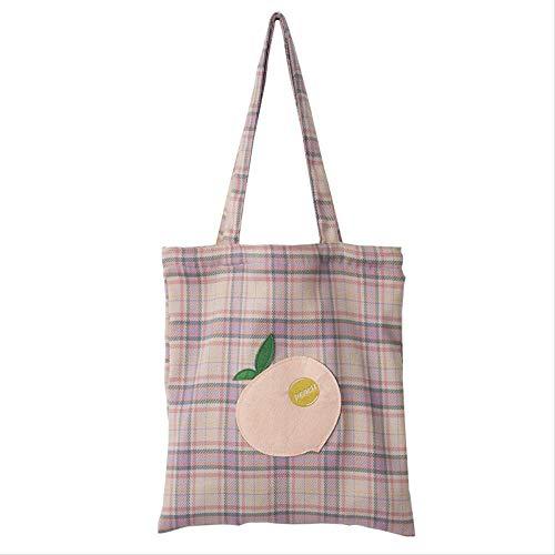 YEYU Literarische einfache große Kapazität Canvas Bag Handtaschen japanische Wolle Umhängetasche Handtasche 2 -