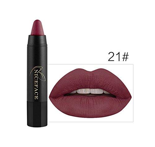 Bluestercool Rouge à Lèvres Mat Brillant Maquillage à Lèvres 24 Couleurs (21#)