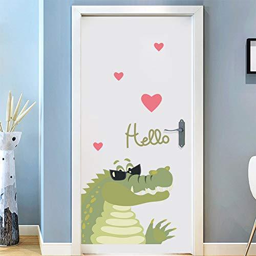 Wandaufkleber Mit Sonnenbrille, Krokodil-Liebe-Wandaufkleber, Glasfenster, Küchentür, Kühlschrank, Türaufkleber