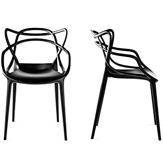 Master Set Of 2 Chair Style indoor/outdoor Modern Retro Dining Garden Chair