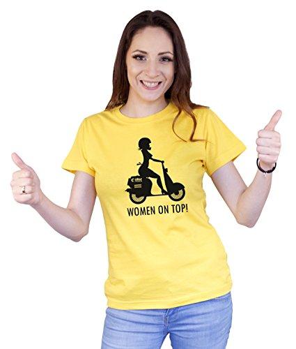 Colour Fashion -  T-shirt - Donna Yellow