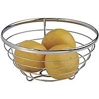 mDesign Ciotola da Frutta per Ripiani Cucina - Cromo