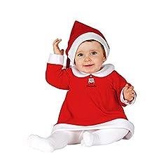 Idea Regalo - Guirma Costume Babba Natale, Bimba Neonata, Rosso, 6-12 Mesi