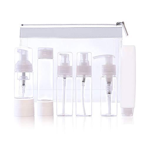 -More 8stück Nachfüllbare Leere Reiseflaschen Kosmetik Container für Shampoo, Flüssigkeit Tragbare Air Travel Zubehöreme ()