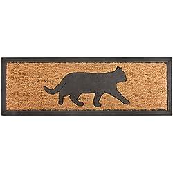 Esschert de diseño rb170de goma y fibra de coco Felpudo gato