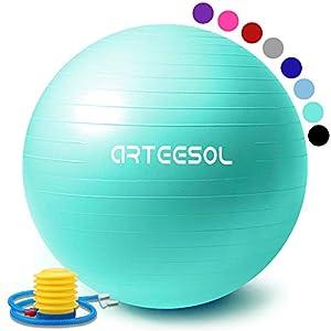 arteesol Gymnastikball, Balance Ball 45cm/55cm/65cm/75cm Yoga Ball mit Pumpe...