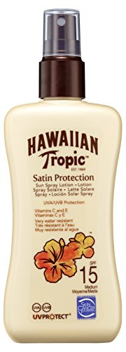 Hawaiian Tropic Satin Protection Sun Spray Lotion LSF 15, 200 ml