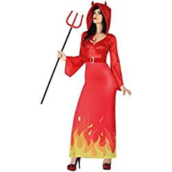 Atosa Disfraz Demonia M-L, Rojo (26478)