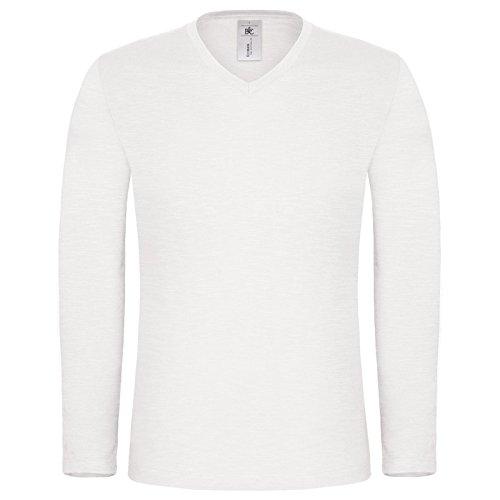 Unbekannt Style It Up Herren Langarmshirt, Einfarbig Weiß