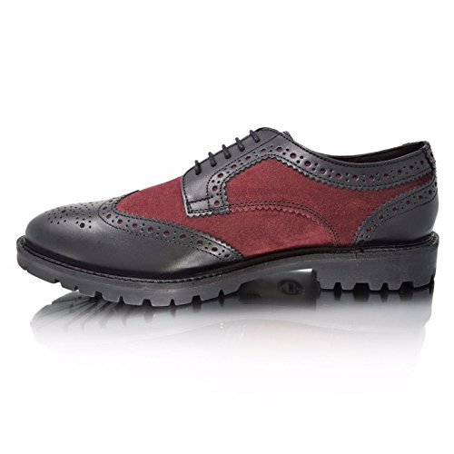 Base London , Chaussures de ville à lacets pour homme Conflict Waxy Suede
