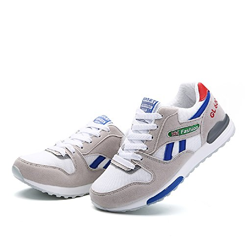 Peggie House,Femmes Chaussures de Course Sports Fitness Gym athlétique Baskets Sneakers Chaussures de Running 35-40 Bleu & Gris