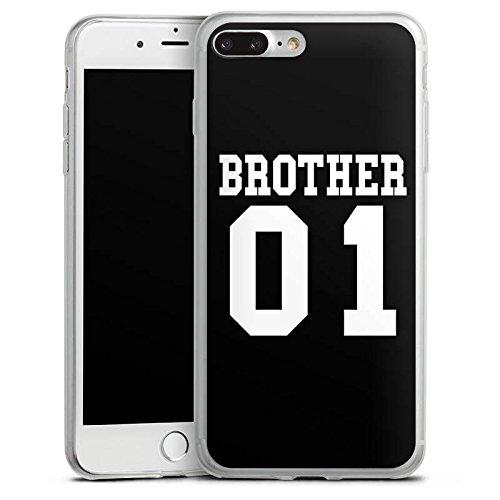 Apple iPhone 8 Plus Slim Case Silikon Hülle Schutzhülle Brother Bruder Bro Silikon Slim Case transparent