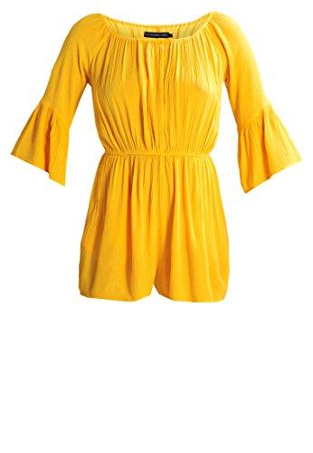 Even&Odd Jumpsuit Damen kurz in Gelb o. Schwarz mit Taillenbund �?Sommer Overall mit ausgestelltem Ärmel, Einteiler für Strand, Playsuit elegant & sexy Gelb