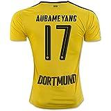 20162017Borussia Dortmund Trikot 17Pierre Emerick Aubameyang casa fútbol Jersey de flores en amarillo, hombre, amarillo, mediano