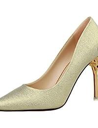 WSS 2016 Zapatos de boda-Tacones-Tacones-Boda / Vestido / Fiesta y Noche-Negro / Rojo / Plata / Oro-Mujer . silver-us4-4.5 / eu34 / uk2-2.5 / cn33 . silver-us4-4.5 / eu34 / uk2-2.5 / cn33