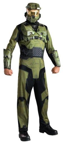Original Lizenz Halokostüm Kostüm Halo 3 Master Chief grün mit Halbmaske Maske Xbox Gr. STD, XL, (3 Halo Maske)
