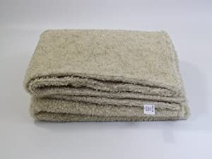 Cashmere Sherpa Fleece Dog Blanket - Small 84cm x 75cm - DOUBLE LAYERS FOR EXTRA COMFORT by Pet n Home
