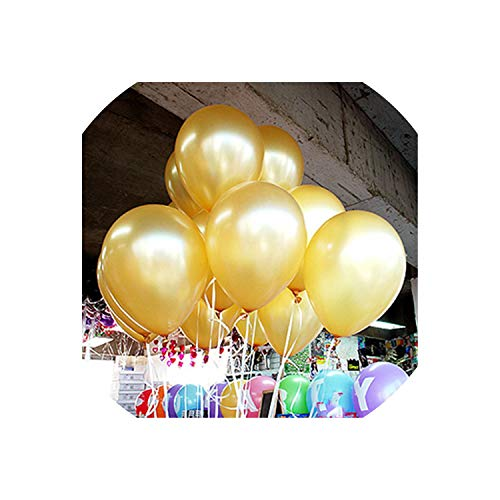 2.2g Green Orange Heart Latex Balloons Birthday Wedding Supply Latex Balloons Air Balls Kids Party Inflatable Toys,A5 Gold Round,1.5g ()
