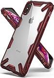 Ringke Coque iPhone XS Max, [Fusion-X] Transparente Antichoc de Protection [Militaire Défense Testée] Résistant aux Rayures PC Solide Rigide TPU Bumper pour iPhone XS Max Coque - Ruby Red