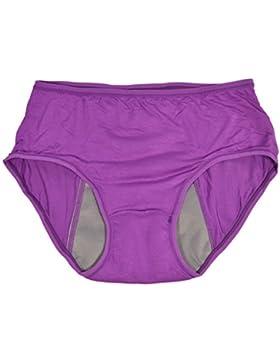 P Prettyia 2pcs Bragas Menstruales Mujeres Período Menstrual A Prueba Filtraciones Ropa Interior Sangrado Posparto...
