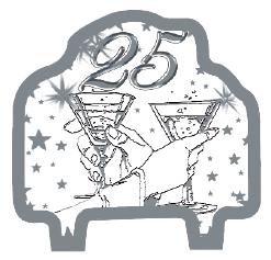 GiviItalia 51245 - Vela decorada de plata con diseño de jubilee, multicolor, 9 cm