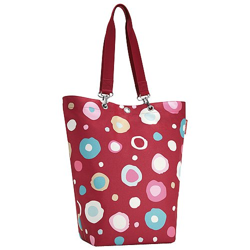 Reisenthel Cityshopper, Sac de Shopping, Sac de Transport, Funky Pois 2 (Rouge), uc3048