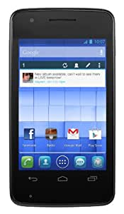 Alcatel OT S'POP Orange Pay As You Go / Payg Mobile Phone- 4GB- Black