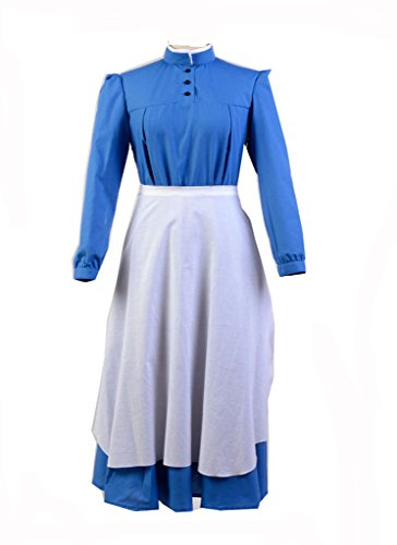 Howl's Moving Kostüm Castle - Howl's Moving Castle Sophie Dress Cosplay Kostüm Blau S