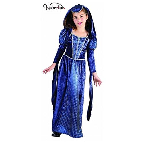 Wicked Fun Damen Mädchen Camelot Renaissance Prinzessin Kinder Kostüm (Wicked Kostüm Kinder)