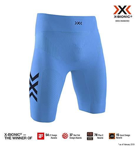 X-Bionic Herren Twyce 4.0  Run Shorts Men , blue/arctic white, M