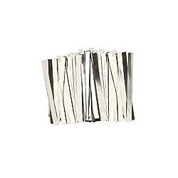 U.S. Solid Streifen aus reinem Nickel, 0.15x8x100mm, 100 Count 99,6% Nickel für 18650 Löt-Anschluss für Lithium-Hochleistungsbatterie, Li-Po Akku, NiMH und NiCd Akku und Punktschweißen