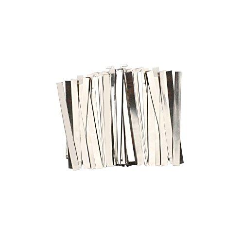 U.S. Solid Streifen aus reinem Nickel, 0.15x8x100mm, 100 Count 99,6% Nickel für 18650 Löt-Anschluss für Lithium-Hochleistungsbatterie, Li-Po Akku, NiMH und NiCd Akku und Punktschweißen Nickel-akku