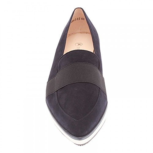 Peter Kaiser Cecilia Pointed Toe Suede Moccasin Navy Suede