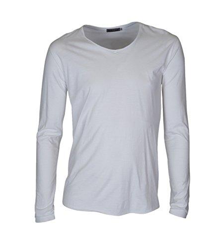 GRETA & LUIS Herren Premium-Langarmshirt aurel in Weiß Blanco