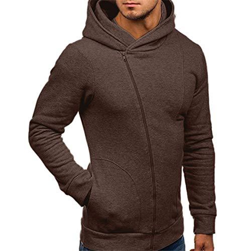 (Herren Langarm Hoodies Mann Männlich Herbst Winter Outwear Mode Lässig Sweatshirt Hoodies Mantel Reißverschluss Trainingsanzüge Jacke Moonuy)
