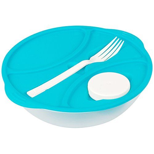 Promobo - Lunch Box City Panier Repas 1 Couvert Un Doseur Sauce Slim Bleu