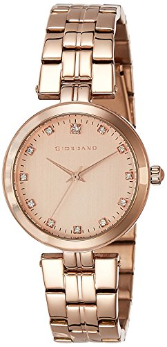 Giordano Analog Rose Gold Dial Women's Watch - A2044-77