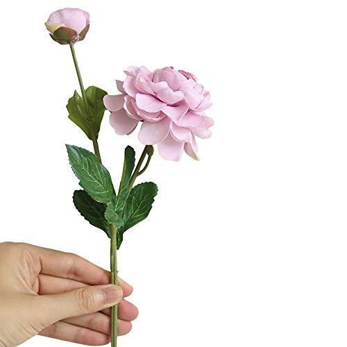 Lazzboy Unechte Blumen,Künstliche Deko Blumen Gefälschte Blumen Blumenstrauß Seide Wirkliches Berührungsgefühlen, Braut Hochzeitsblumenstrauß für Haus Garten Party Blumenschmuck #09(G)
