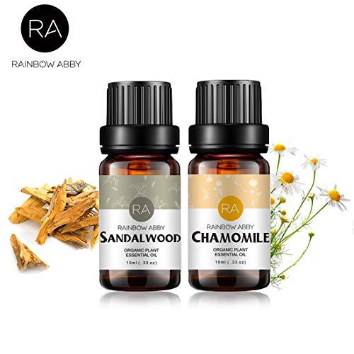 Conjunto de aceites esenciales de sándalo y manzanilla Aromaterapia Aceites orgánicos 100%...