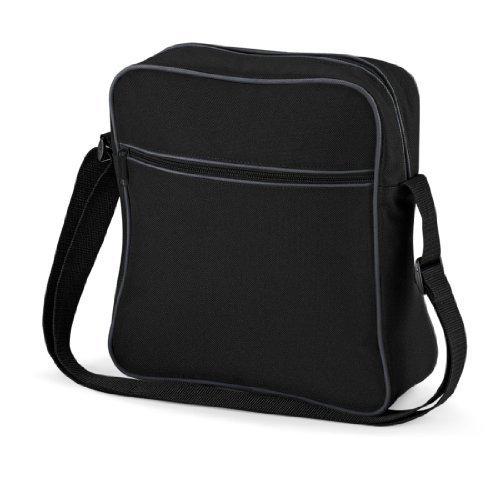 Shirtstown Retro Flight Bag, Umhängetasche, Schultertasche, Retro, Tasche blackdarkgraphite