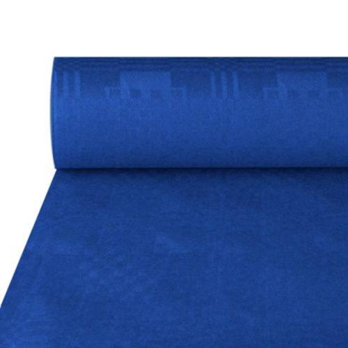 Papstar NEU Tischdecke dunkelblau, Damastprägung, 50x1m
