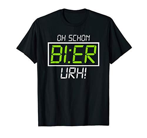 Kaltes Bier T-shirt (Oh Schon Bier Uhr T-Shirt Lustiges Saufshirt Bier Geschenk)