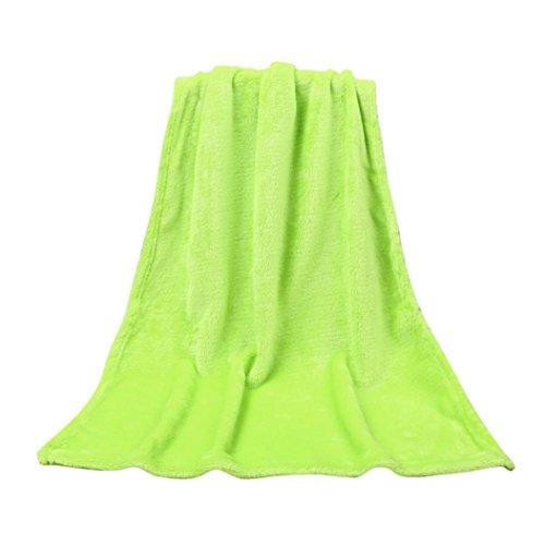 LILICAT Kuscheldecke TV-Decke Wohndecke Fleecedecke Sofadecke Klimaanlage Babydecke Decke flauschig warm kuschelig Coral Fleece Mikrofaser Schmusedecke Tagesdecke (50X70CM, Grün) Grüne Bettdecken