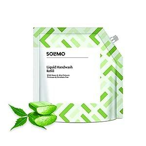 Amazon Brand - Solimo Handwash Liquid Refill, Neem & Aloe - 1500 ml